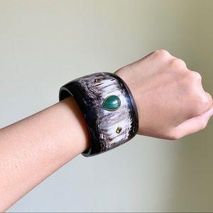 Ashley Pittman Gemstone Peridot Cuff Bracelet